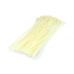 Plastic cable ties Vorel white - 100 pcs.