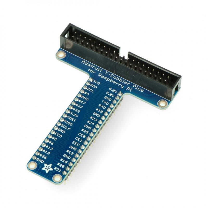Adafruit Pi T-Cobbler Plus złożony - rozszerzenie Raspberry Pi 4/3/2/B+ do płytki stykowej + taśma