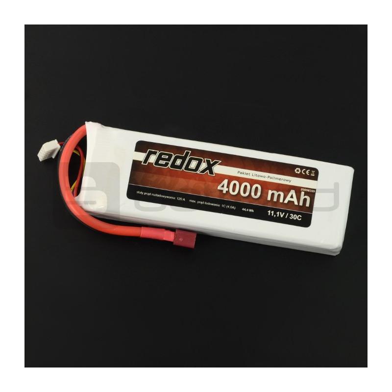 Pakiet Li-Pol Redox 4000mAh 30C 3S 11,1V