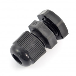 Hermetic cable gland - m12 - black
