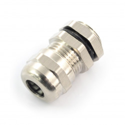 Hermetic metal cable gland - m12