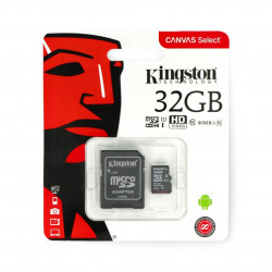 The memory card Kingston microSD 32GB 80MB/s UHS-I class 10 with adapter