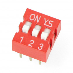 Switch DIP switch 3-point red