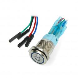 Przycisk zasilania dla Odroid H2 - niebieskie podświetlenie LED