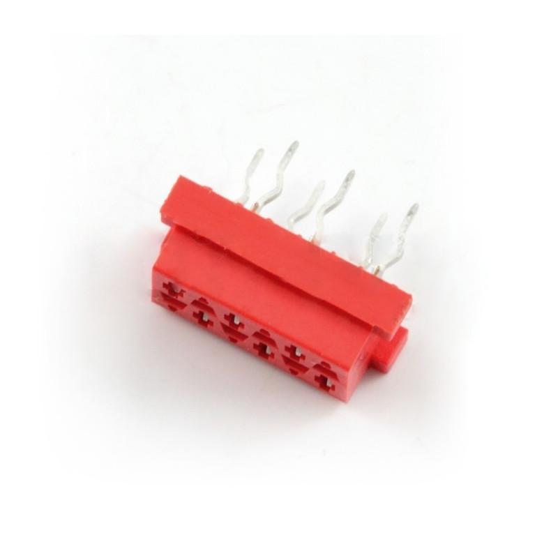 Złącze Micro-Match - gniazdo 6 pin