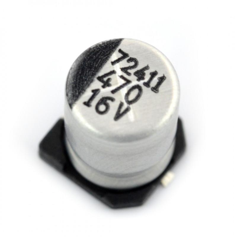 Electrolytic capacitor 470uF/16V SMD*