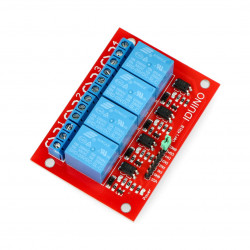Moduł przekaźników Iduino4 kanały - styki 10A/240VAC - cewka 5V
