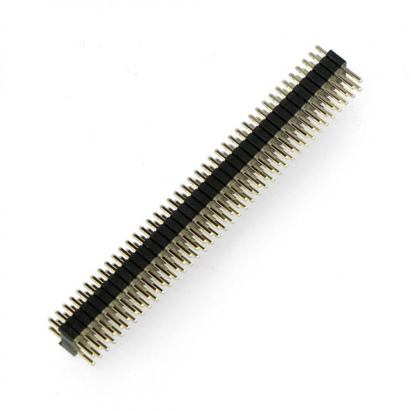 Wtyk goldpin 2x40 prosty raster 1,27mm / 2,54mm