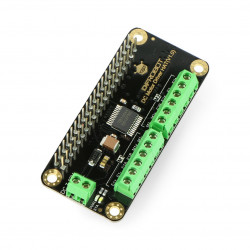 DFRobot DC Motor Driver HAT V1.0 - 2-channels motor driver 12V/1,2A - HAT for Raspberry Pi