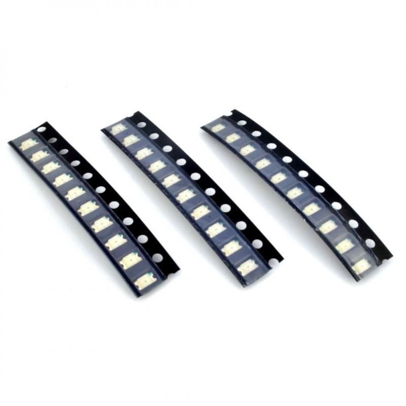 Set of SMD1206, SMD0805, SMD0603 LEDs - 90pcs_