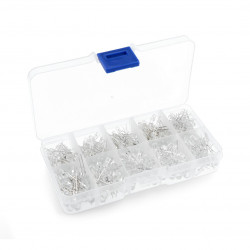 Set of 3mm and 5mm LED - 300pcs + organizer