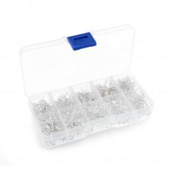 Zestaw diod LED 3mm i 5mm - 300szt. + organizer