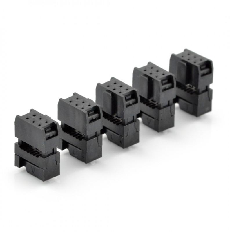 Gniazdo IDC 6 pin na taśmę - 5szt.