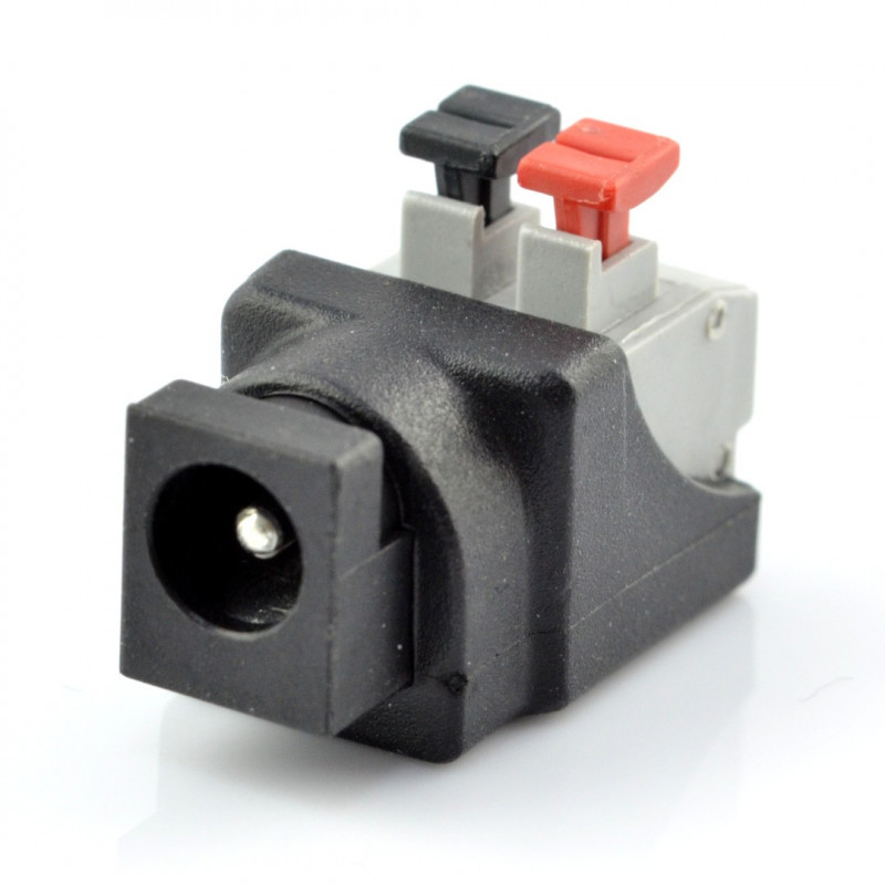 DC 5.5x2.1mm socket with quick connection and buttons v2*