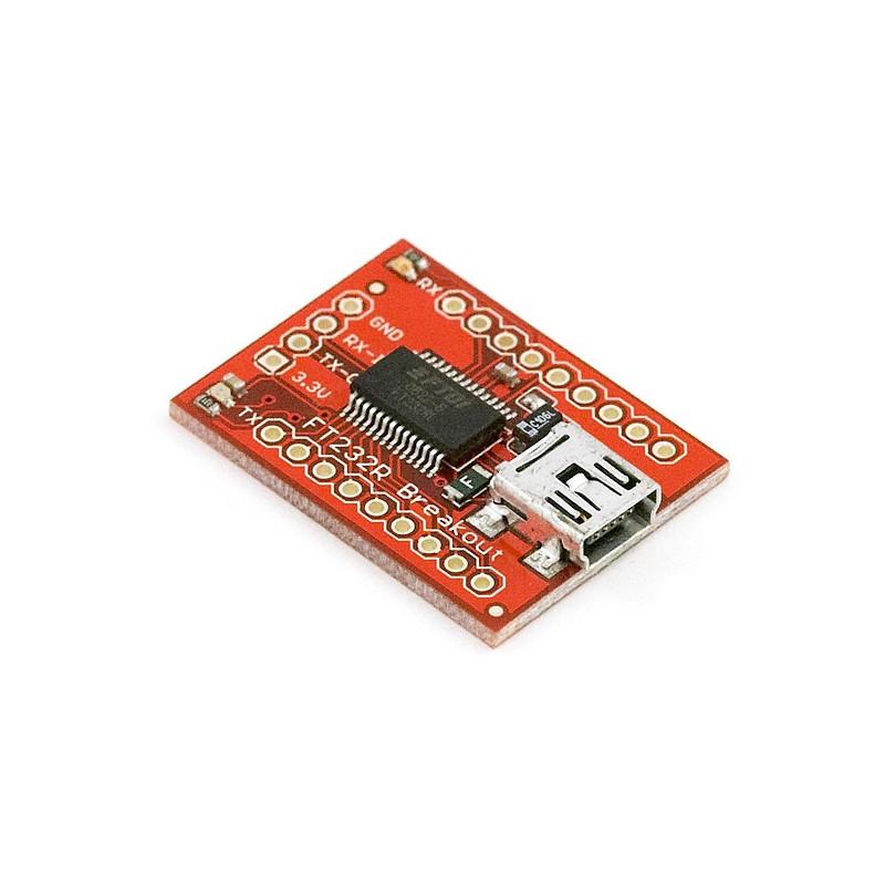 Converter USB-UART FTDI 3.3V/5V miniUSB without connectors - SparkFun