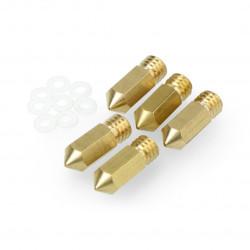 Dysza 0,4mm M6 - filament 1,75mm - miedź -5szt. + uszczelka 8szt. - do drukarki Dobot Mooz