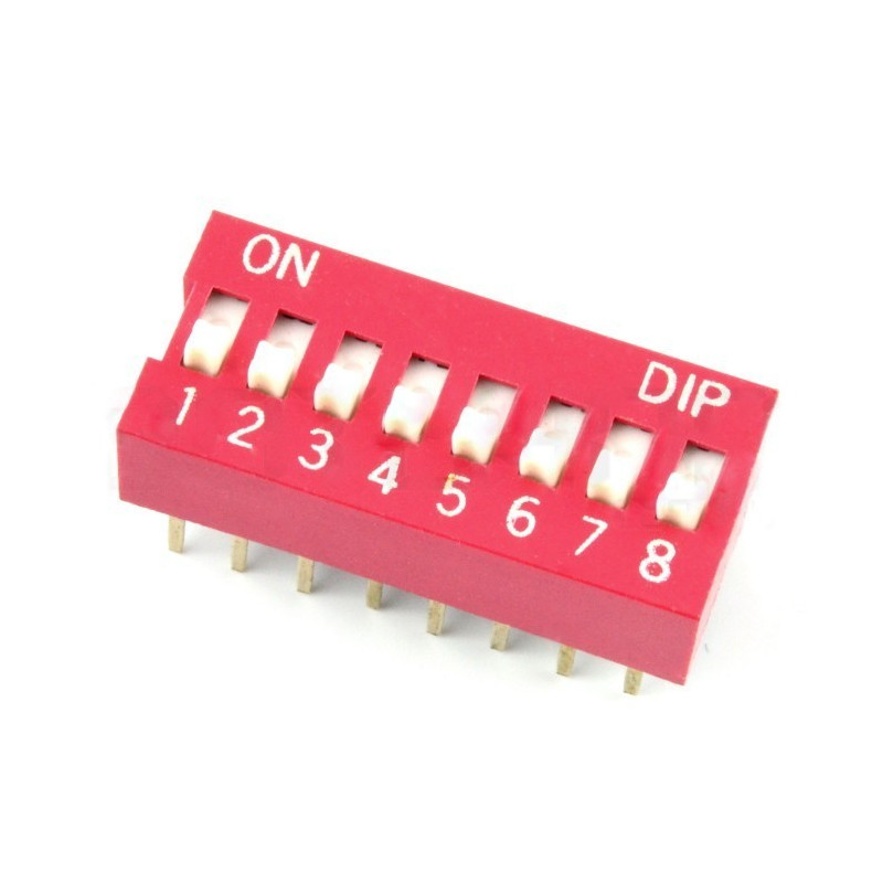 DIP switch 8-pole - red*