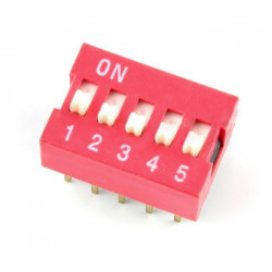 Switch DIP switch 5-point - red