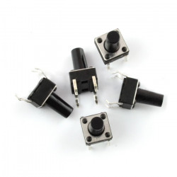 Tact Switch 6x6mm / 13mm THT - 5szt
