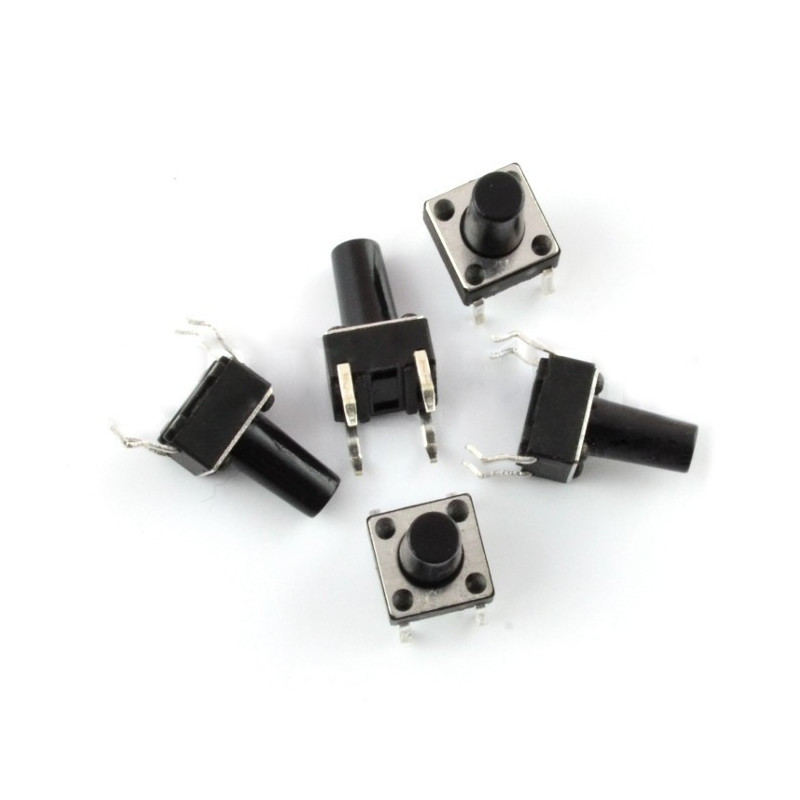 Tact Switch 6x6, 13mm DIP - 5szt.*