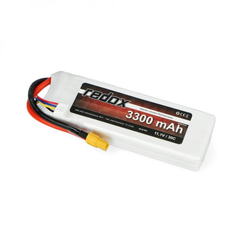 Pakiet Li-Pol Redox 3300mAh 30C 3S 11.1V