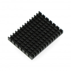 Heatsink 40x30x5mm for Raspberry Pi 4 with thermoconductive tape - black