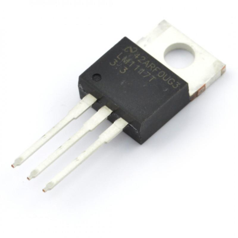 Linear voltage regulator LDO 3,3V LM1117T - THT TO220