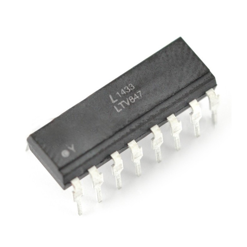 Multiple optocoupler LTV847 - THT_