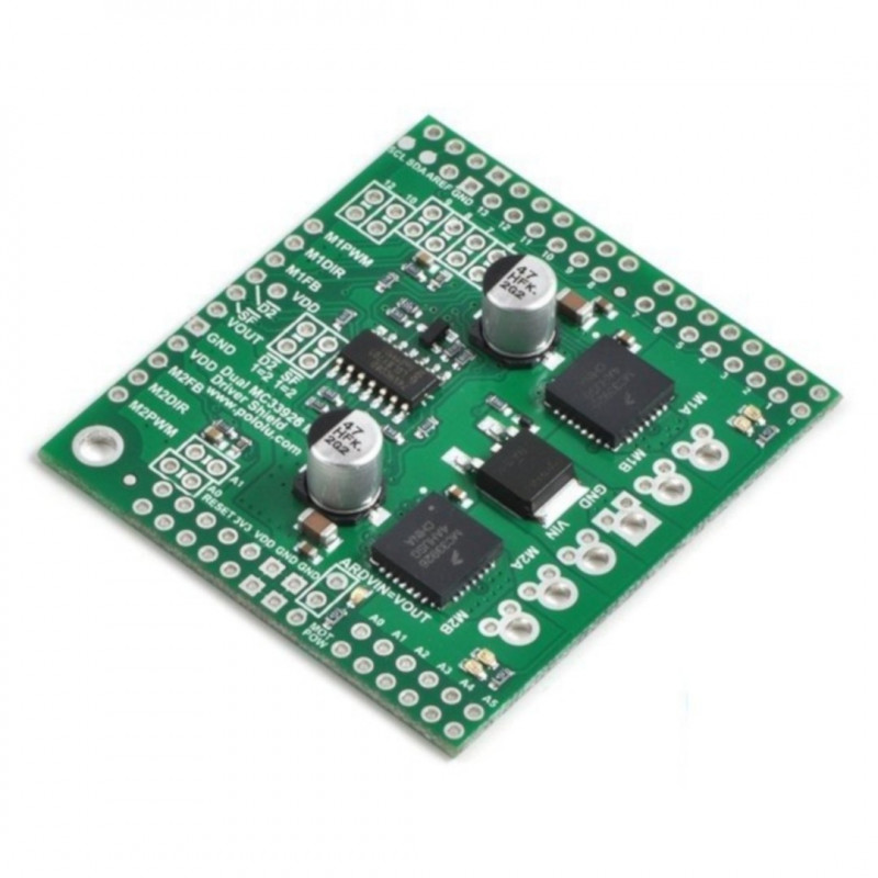 Pololu MC33926 2-channel motor driver 28V/3A - Shield for Arduino*
