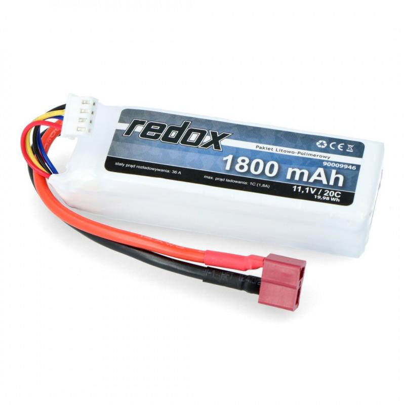 Pakiet Li-Pol Redox 1800mAh 20C 3S 11.1V