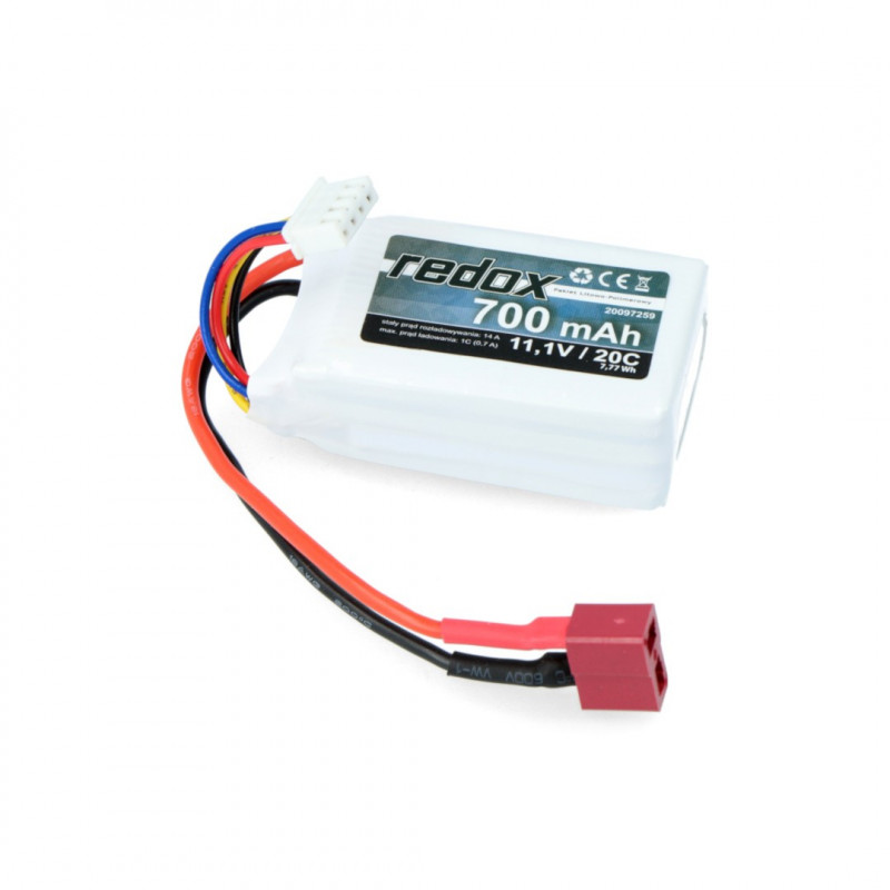 Redox Li-Pol battery pack 700mAh 20C 3S 11.1V