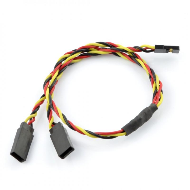 Splitter Wire for Servos Y - 30 cm twisted (JR)_