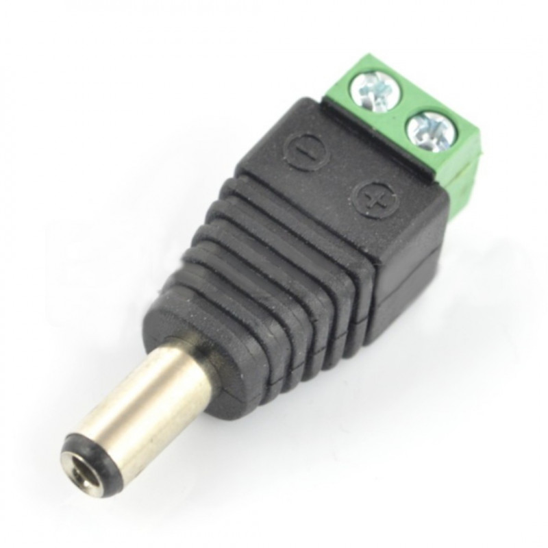 DC plug 5.5x2.1mm with quick connection*