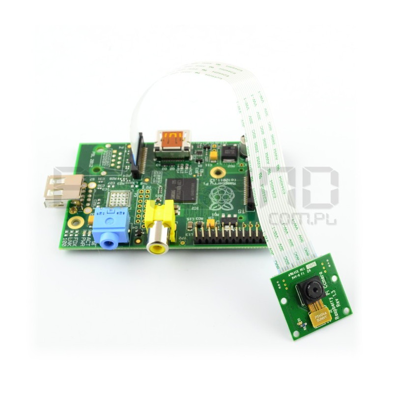 Raspberry Pi Model A 256 MB + kamera HD