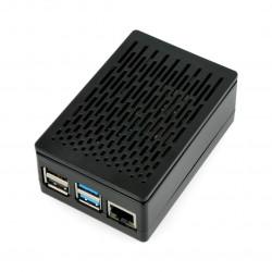 Obudowa Raspberry Pi model 4B - ABS - czarna - LT-4A04