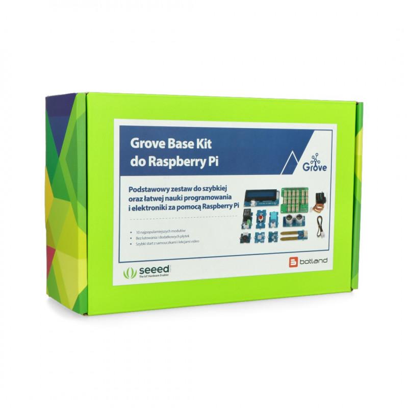 Grove Base Kit dla Raspberry Pi 4B/3B+/3B - zestaw dla początkujących PL