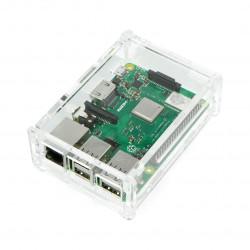 Obudowa Raspberry Pi Model B+ przezroczysta z klapką