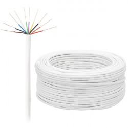 Przewód alarmowy 10 żyłowy 0,5 mm - 100 mb