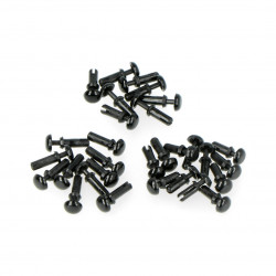 Grove - set of black nylon rivet - 30 pcs