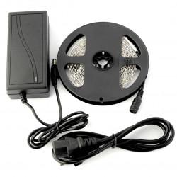 Pasek LED SMD5050 IP 20 14,4W, 60 diod/m, barwa neutralna - 5m + zasilacz 12V/3A - zestaw