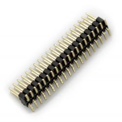 Goldpin kątowy wtyk męski 2x20 raster 1,27mm