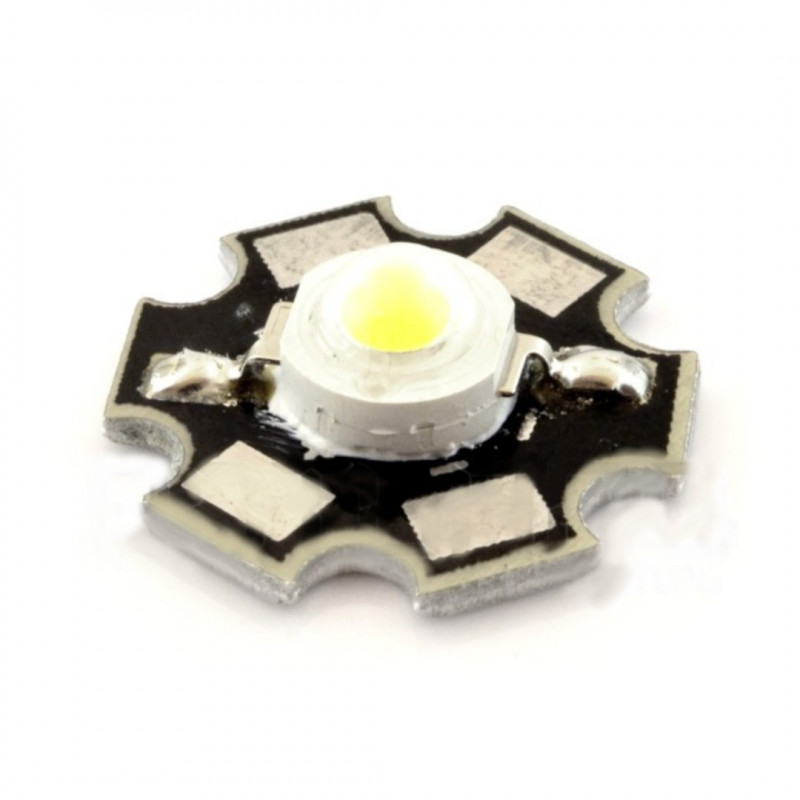 Diode Power LED Star 1 W - white with heat sink_