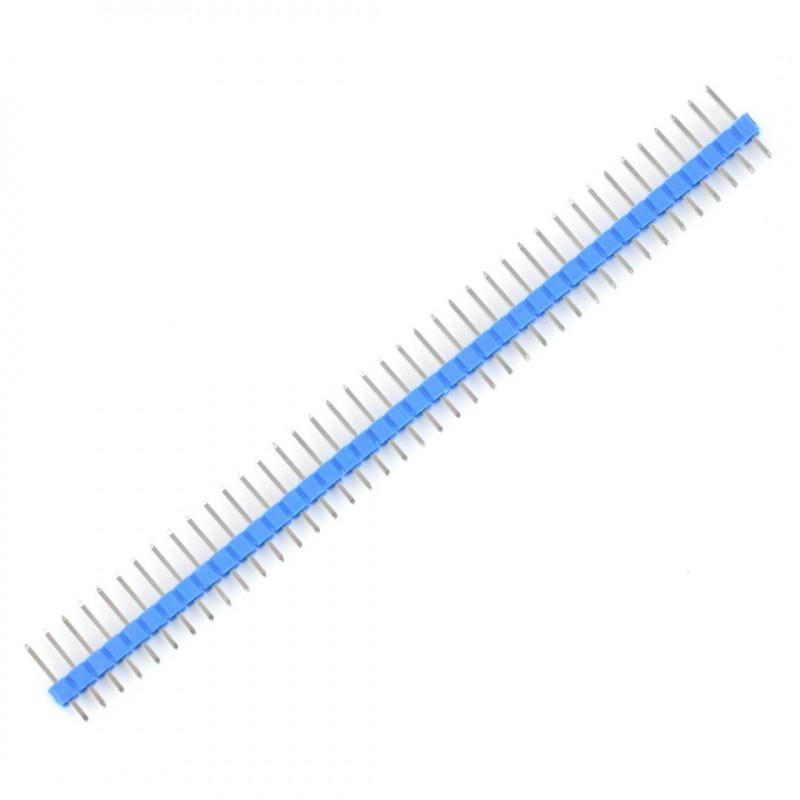 Wtyk goldpin 1x40 prosty raster 2,54mm - niebieski