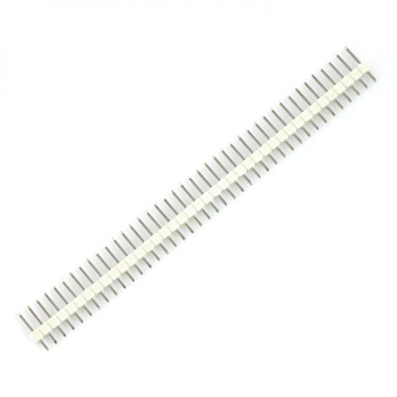 Wtyk goldpin 1x40 prosty raster 2,54mm - biały
