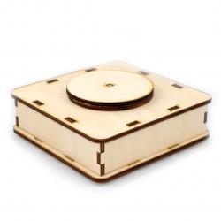 Wooden 3D rotating platform