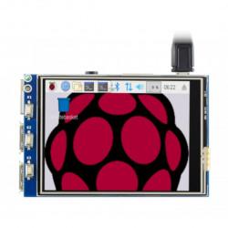 Ekran dotykowy rezystancyjny LCD TFT 3,2'' (C) 320x240px GPIO dla Raspberry Pi 4B/3B+/3B/Zero
