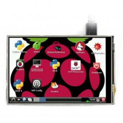Ekran dotykowy rezystancyjny LCD TFT 4'' (C) 480x320px GPIO dla Raspberry Pi 4B/3B+/3B/Zero