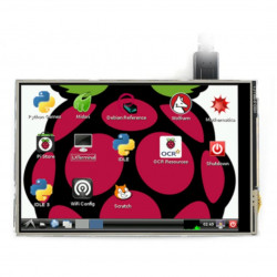 Touch Screen Waveshare (C) - resistive LCD 4'' 480x320px GPIO for Raspberry Pi 4B/3B+/3B/Zero