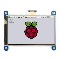 Touch Screen Waveshare (H) - resistive LCD 4'' 800x480px HDMI + GPIO for Raspberry Pi 4B/3B+/3B/Zero