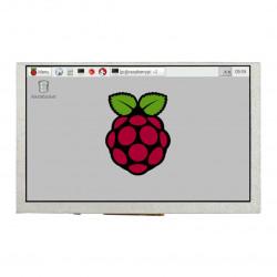 Ekran Waveshare DPI - LCD IPS 5'' 800x480px dla Raspberry Pi 4B/3B+/3B/Zero